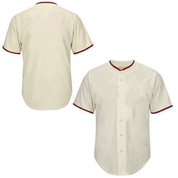 Cream Button Front Baseball Jersey